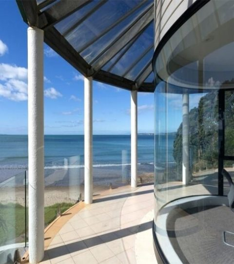 Custom Curved Glass Windows Doors&Bent Glass Design