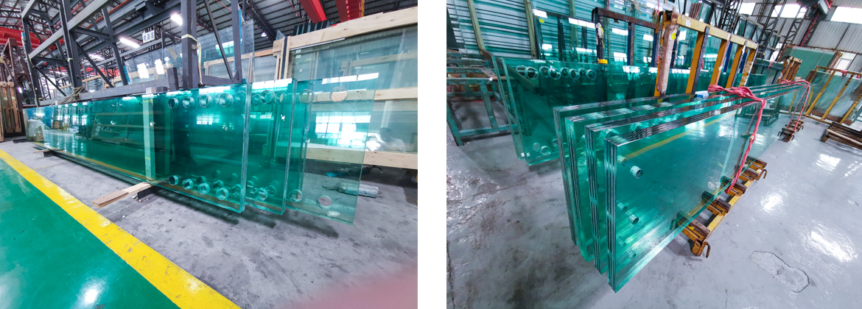 multi-layer laminated glass.